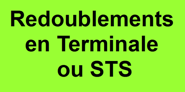 Redoublements Terminale / STS