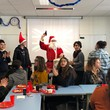 Santa Claus is coming to school !
